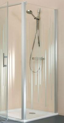 Parois de douche JAZZ fixe reversible 120cm, de couleur blanc verre   transparent LEDA