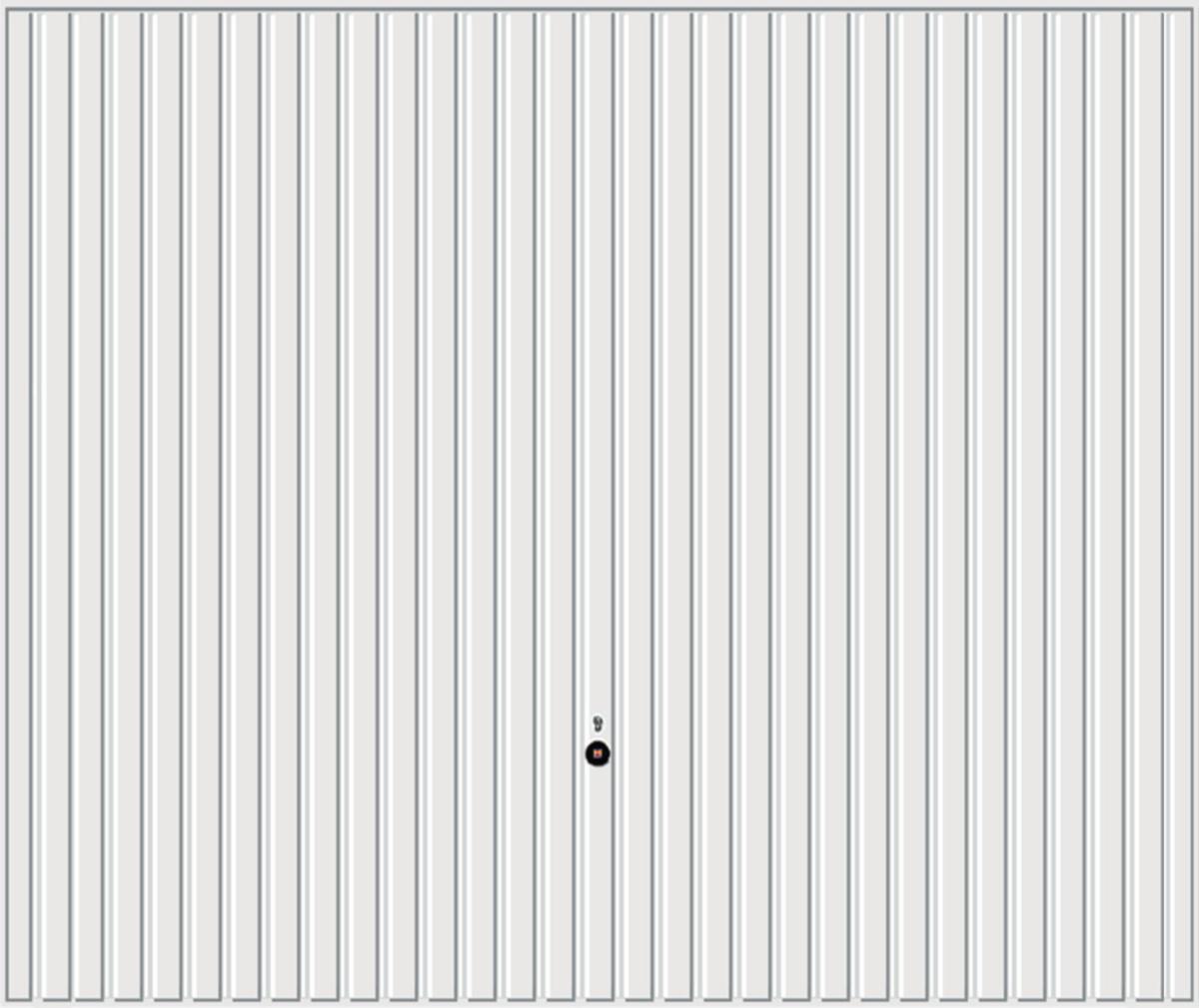 Porte De Garage Hormann Pas Cher porte garage basculante n80 acier simple paroi n°902 blanc - 2000x2375 -  hormann