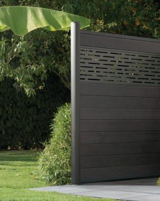 lame de cl ture bois composite izzie gris anthracite. Black Bedroom Furniture Sets. Home Design Ideas