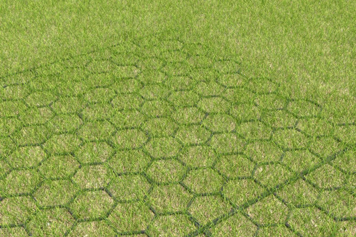 Dalle Beton Parking Herbe dalle pour consolidation de gazon pvc - 40 x 390 x 600 mm - jouplast  igreenplacv0000