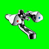 Mélangeur bain douche mâle 15x21mm entraxe 60mm bec fixe DELABIE