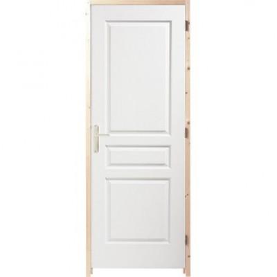 bloc porte postform alv olaire pr peint 3 panneaux. Black Bedroom Furniture Sets. Home Design Ideas