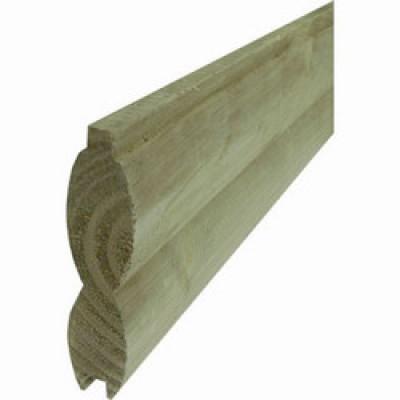 Lame clôture H double rondin traité classe 4 vert 28 132 2000 largeur utile