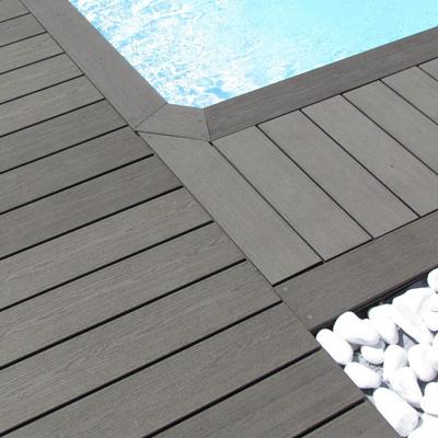 Lame De Terrasse Composite Elegance Gris Anthracite Structuree 4000 X 138 X 23 Mm Silvadec Clermont Ferrand 63100