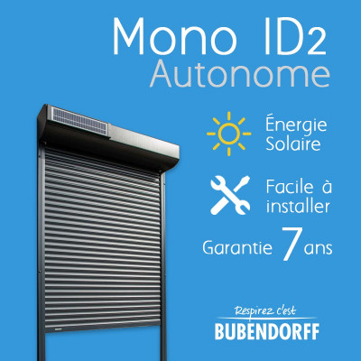 Volet Roulant Mono Id2 Autonome En A3 1150 X 789 Mm Bubendorff