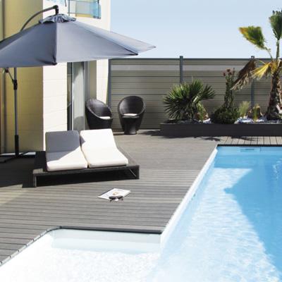 Lame De Terrasse Deck Bois Composite Elegance Gris Anthracite Lisse 23 X 138 X 4000 Mm Silvadec Silam0904l4 Brumath 67170