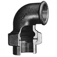 Coude-union fonte malléable 96 noir 12x17 ATUSA