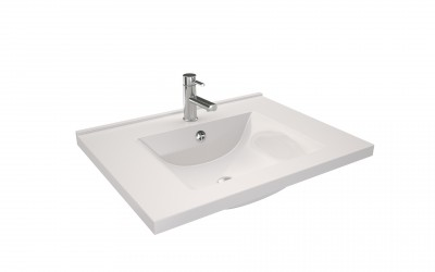 Plan vasque ORION 70cm blanc DECOTEC
