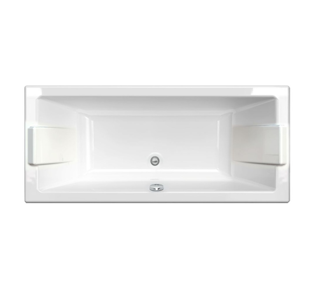 Baignoire Fibre De Pierre baignoire droite prefixe acrylique blanc 170 x 75 cm aquarine