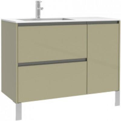 Meuble sous vasque plenitude 105 cm 2 tiroirs 1 porte pour for Meuble salle de bain 2 portes 1 tiroir