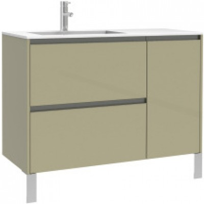 Meuble sous vasque plenitude 105 cm 2 tiroirs 1 porte pour for Meuble porte vasque