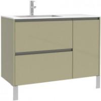 Meuble sous vasque Plenitude 105 cm 2 tiroirs 1 porte  pour vasque D P38 blanc           pour vasque D P38 blanc