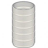Bobine flexible PP DUALIS FLEXCONDENS pour chaudières gaz ou fioul D80/90 L50m POUJOULAT