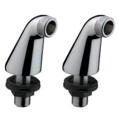 Colonnettes FOCUS E pour bain-douche chromé (x2) L 30mm H 70mm réf 14920000 HANSGROHE