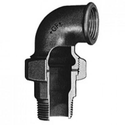 Coude-union fonte malléable 98 noir 40x49 ATUSA