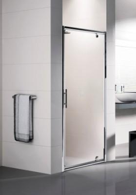 Porte de douche lunes g pivotante 90cm verre transparent for Porte douche novellini