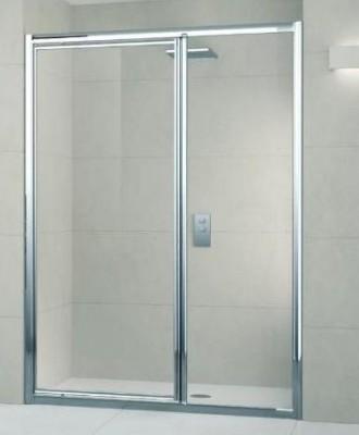 paroi de douche lunes gf pivotante fixe 126 verre transparent blanc novellini lons 64140. Black Bedroom Furniture Sets. Home Design Ideas
