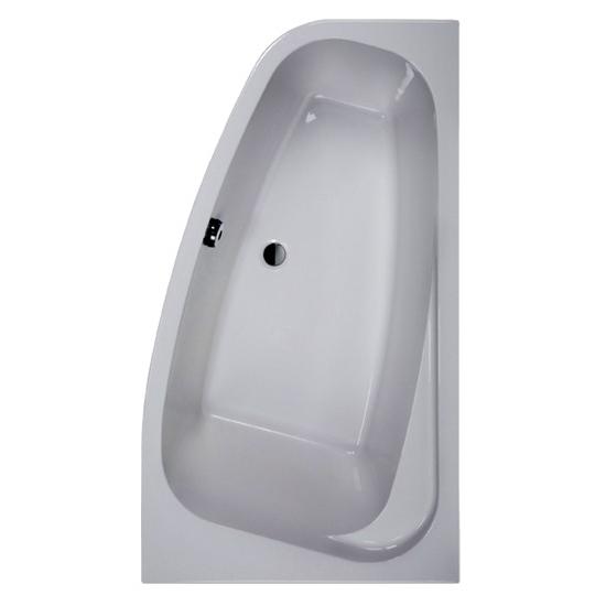 baignoire asym trique frisbee version droite blanc 140 x 80 mm leda montpellier 34000