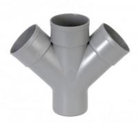 Culotte double 45° D110/110 PVC GIRPI