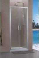 Paroi CONCERTO accès faces 2 pivotant 70cm blanc verre transparent