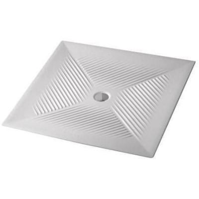 Receveur encastrer vela 80x80cm extra plat blanc porcher for Receveur de douche a encastrer