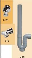 Colis machine à laver 10 appliques 10 robinets 10 siphons SFERACO
