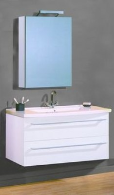Plan vasque verre CITYLINE 110 blanc NABIS