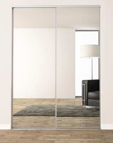 Porte De Placard Coulissante Miroir H 1500 2600 Mm X L 1301 1600 Mm Le Teich