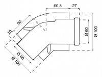 Coudes (2) 45° condensation 60/100 SAUNIER DUVAL