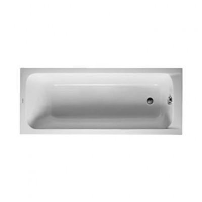 Baignoire D-CODE 170x70 blanc avec pieds vidage latéral DURAVIT