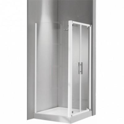 Paroi de douche fixe LUNES F 84 verre transparent blanc NOVELLINI
