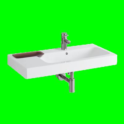 Plan de toilette céramique autoportant LOVELY 90cm blanc ALLIA