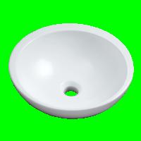 Vasque VANITY diamètre 38cm à poser sur plan blanc ALLIA