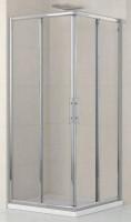 Porte de douche LUNES AL coulissant + F99 verre transparent chromé NOVELLINI