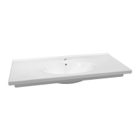 Plan de toilette PRIMA 105cm blanc ALLIA
