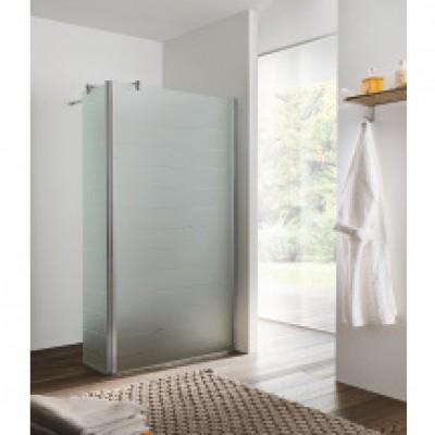 Paroi de douche latérale largeur 30cm verre acidé BASIC SEGMENT