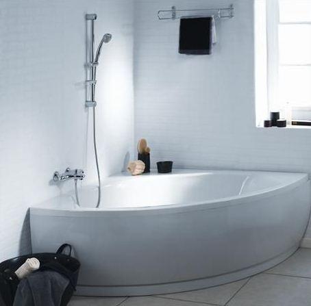 Baignoire acrylique angulaire 120x120cm matea ideal for Baignoire acrylique prix