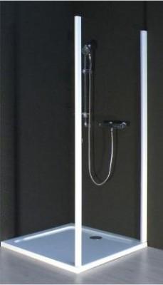 Paroi fixe 80cm verre transparent silver JACOB DELAFON