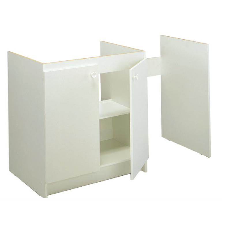 meuble bas m lamin pour cuisinette 150cm moderna. Black Bedroom Furniture Sets. Home Design Ideas