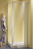 Porte pivotante verre transparent 4mm 76,5-82,5cm INDA FRANCE