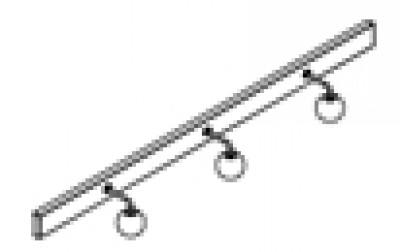 Bandeau halogène 140 3x25W melamine chêne blanc DECOTEC
