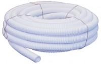 Tube vidange annelé diamètre 32mm PVC blanc 20m BASIC SEGMENT