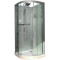 Cabine de douche  DOMINO 1/4 Rond 90x90 confort