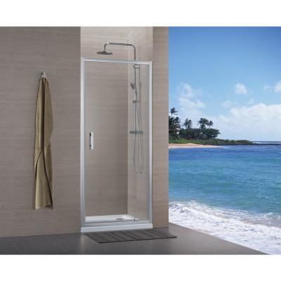 Paroi de douche Concerto accès de face porte pivotante 90cm profilé argent verre transparent ALTERNA