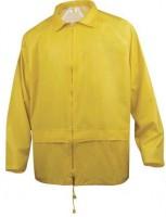 Vêtement de pluie polyester enduit PVC en 400 jaune tailleL