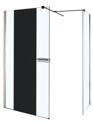 Paroi de douche miroir walk 78 5cm 80cm retour basic for Paroi douche miroir