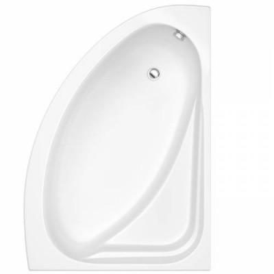 Baignoire PRIMA style 145x85 d'angle acrylique tablier blanc ALLIA