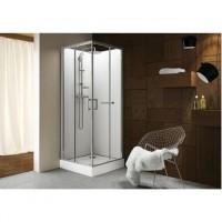 Cabine de douche KARA carré 80cm porte pivotante version avantage blanc - LEDA