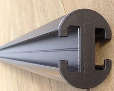Poteau aluminium de cloture gris 74x74x2300mm DEBARGE BOIS IMPORT