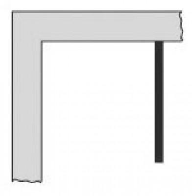 Paroi de douche fixe PRIMEO F70 (68-72) verre granité blanc